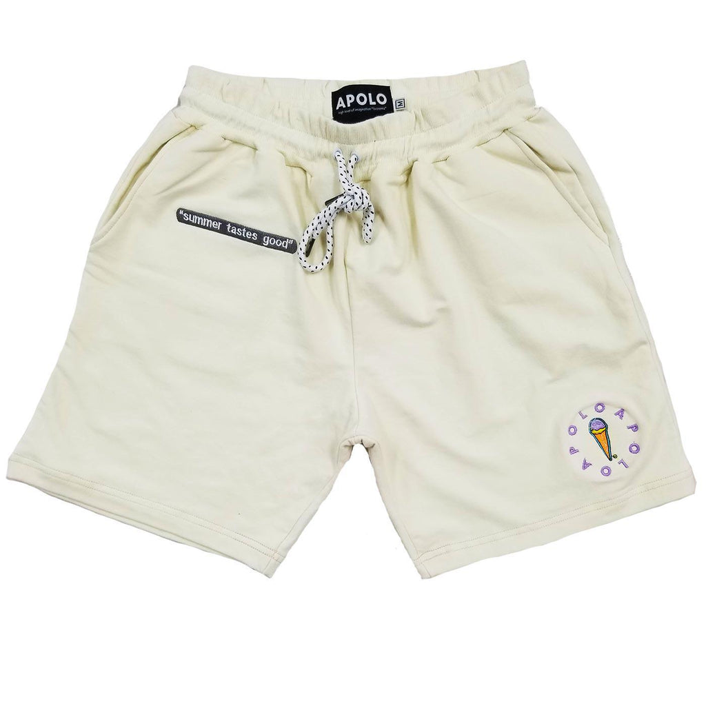 Summer Tastes Good Summer Shorts (Cream) | Apolo Apparel