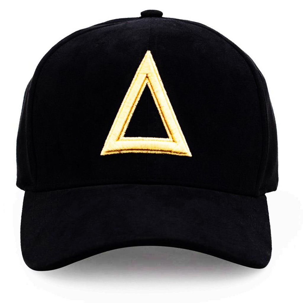 Tri Suede Dad Hat (Black/Gold) | Triangulo Swag