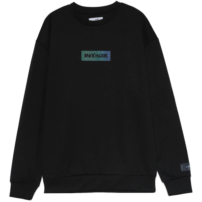 Basic Iridescent Sweatshirt (Black) | Sixth June