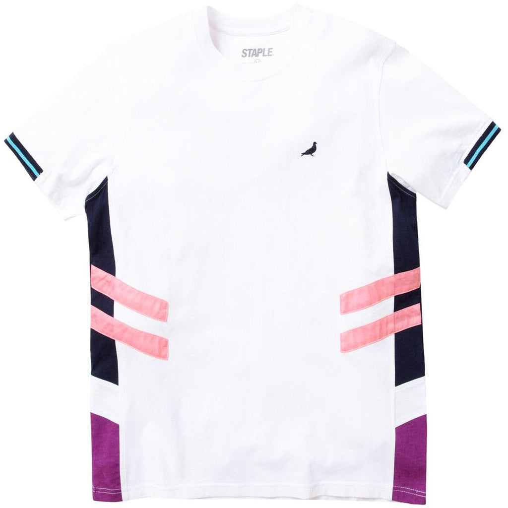 Athletic Pieced Tee (White) | Staple Pigeon