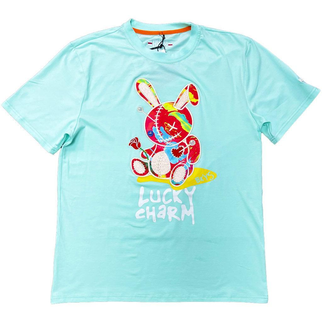 Lucky Charm w/ Lava Tee (Ice Blue) | BKYS Clothing