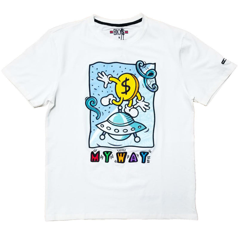 My Way Tee (White) | BKYS Black Keys