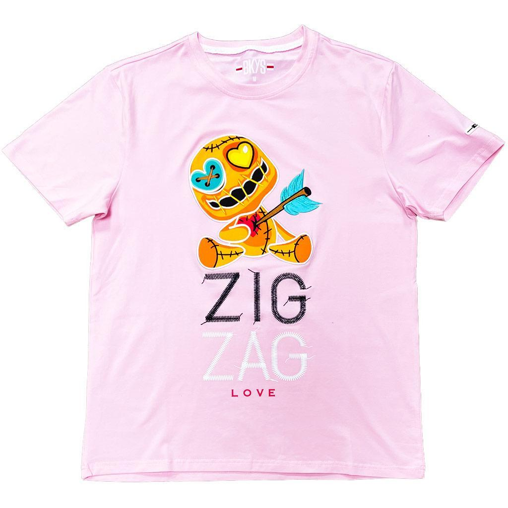 Zig Zag Tee (Bubble Gum) | BKYS Clothing