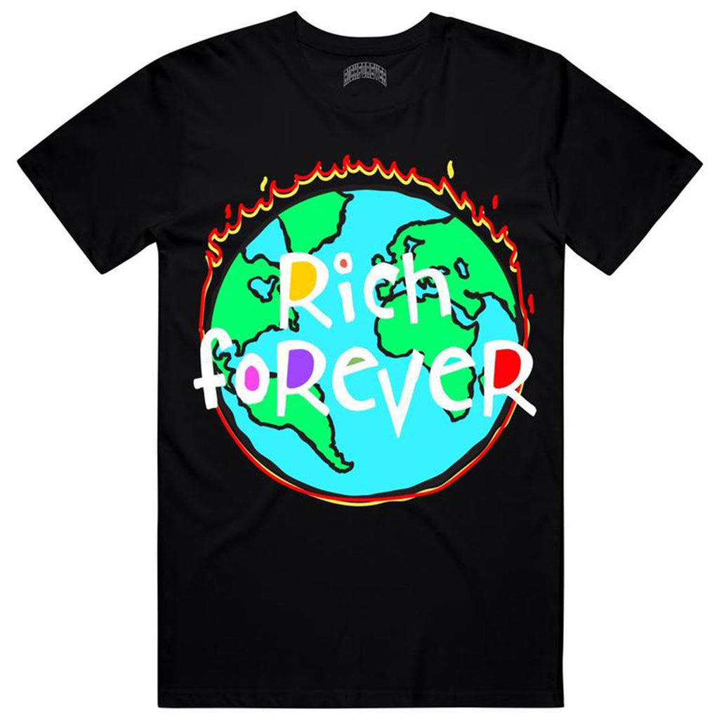 World On Fire Tee (Black) | Rich Forever