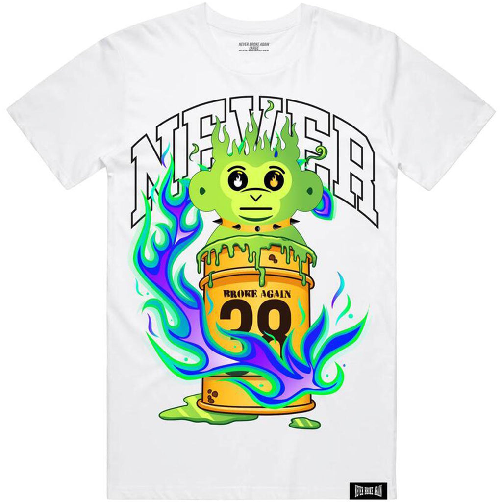 Slime Ooze Tee (White) | Never Broke Again