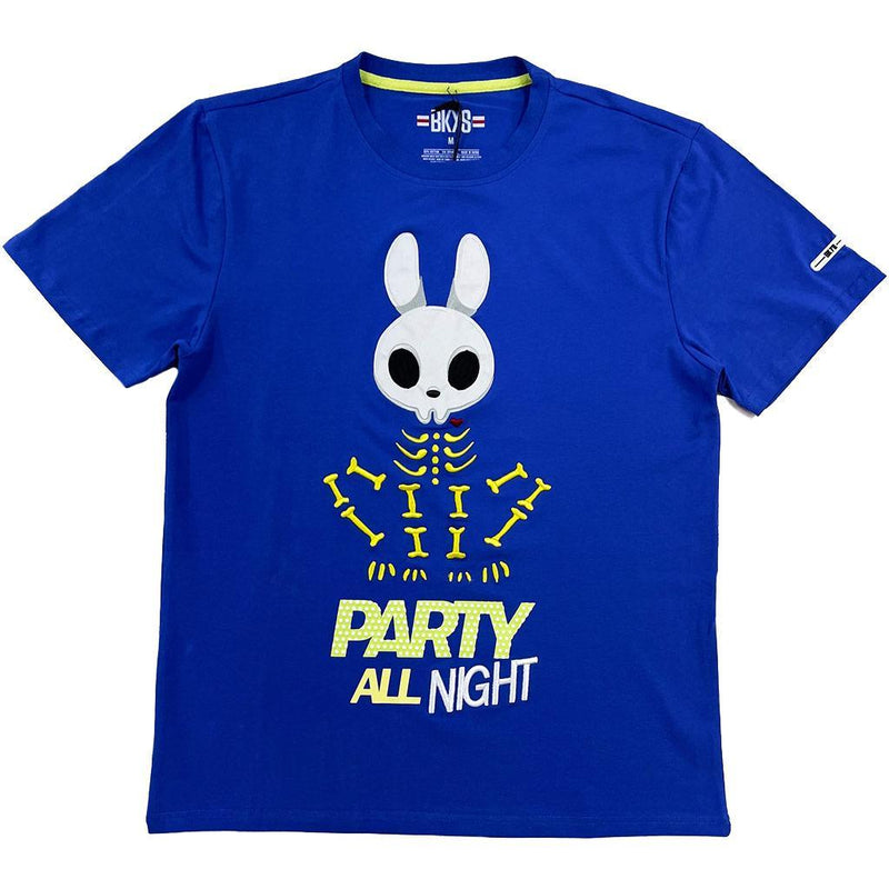 Party All Night Tee (Royal Blue) | BKYS Clothing
