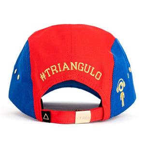 Tri 5 Panel Hat (Blue/Red) Rear | Triangulo Swag