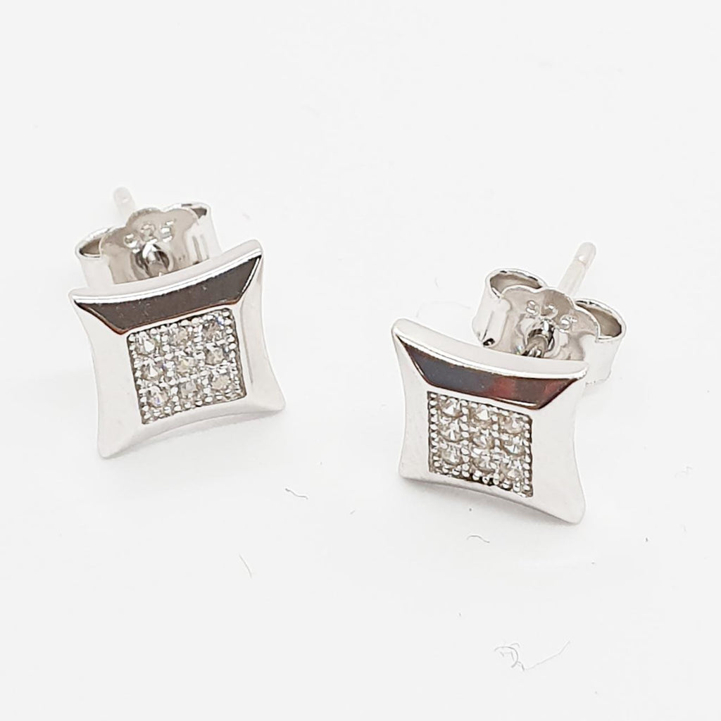 Silver Small Concave Earrings | Urban Street Wear