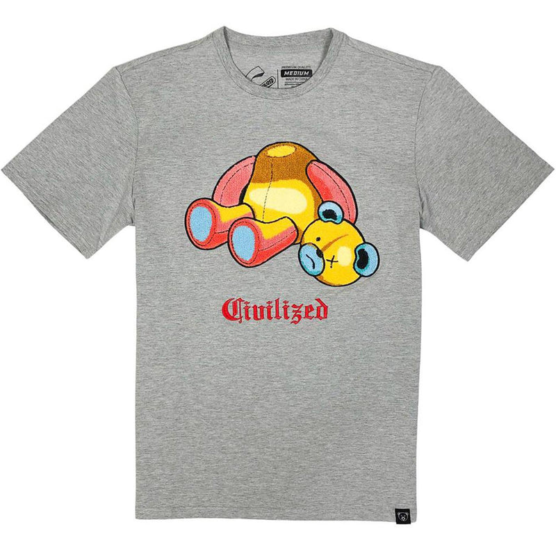 Civilized Bear Tee (Heather Grey)