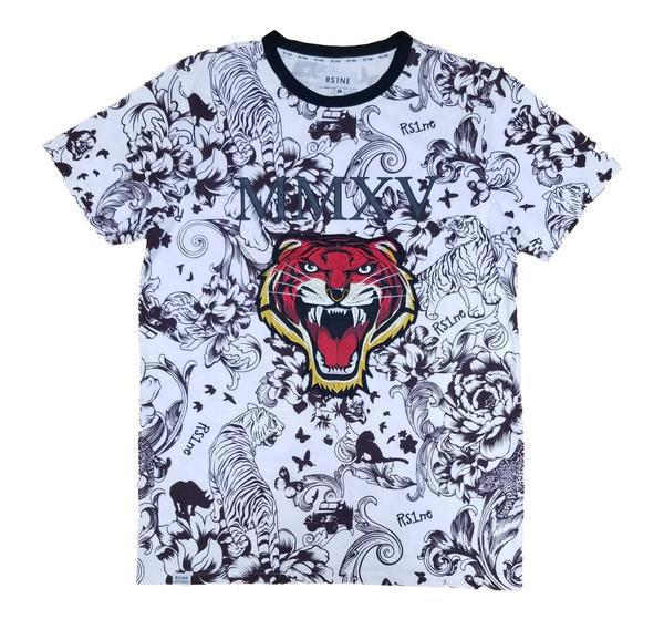 Embellish/Tiger T Shirt (Burgundy)