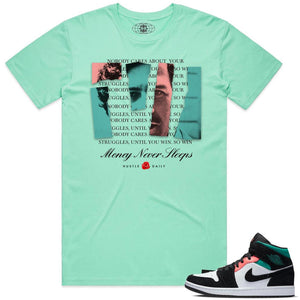 AJ1 M Until You Win Pablo Tee (Aqua)