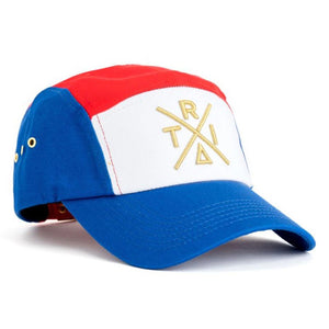 Tri 5 Panel Hat (Blue/Red) | Triangulo Swag