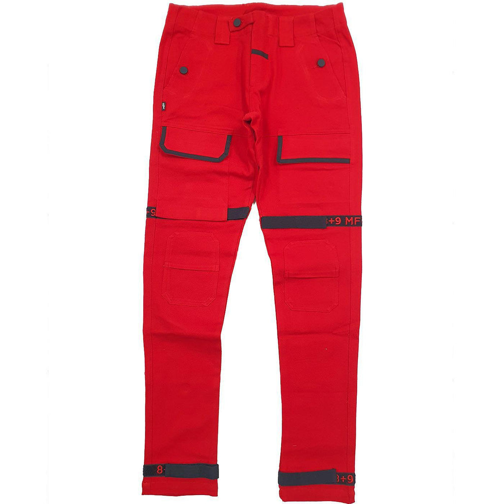 Strapped Up Slim Utility Pant (Red)