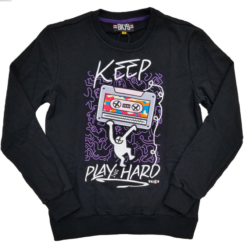 Keep Playing Hard Crewneck (Black)