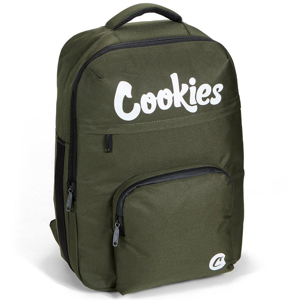 Eclipse Sateen Smell Proof Backpack (Olive) | Cookies SF Clothing