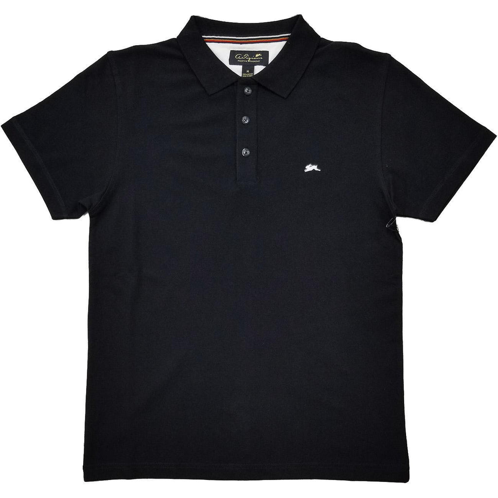 Marcus Polo Shirt (Black) | A. Tiziano