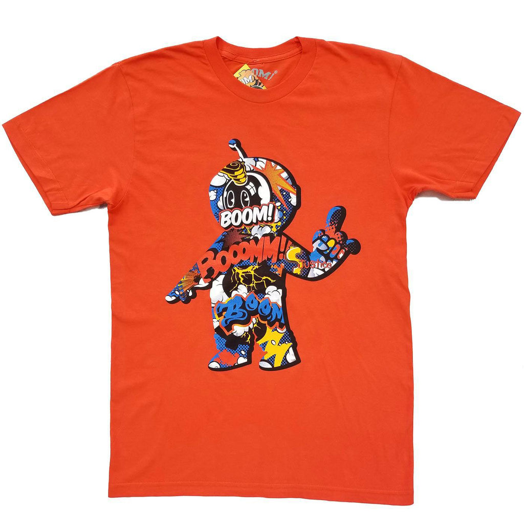 Cartoon Boom Tee (Orange)