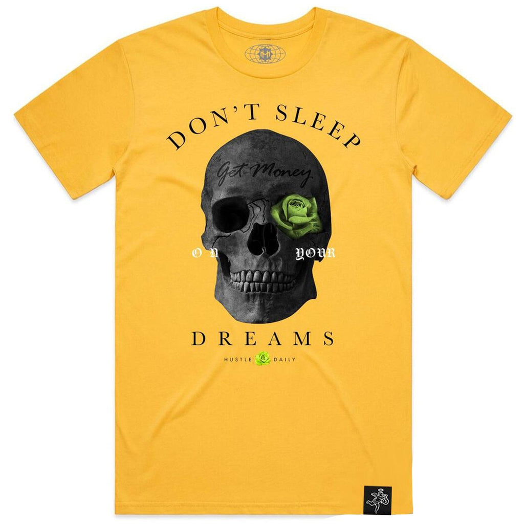AJ1 VLT Skull Rose Tee (Yellow) | Hasta Muerte Clothing