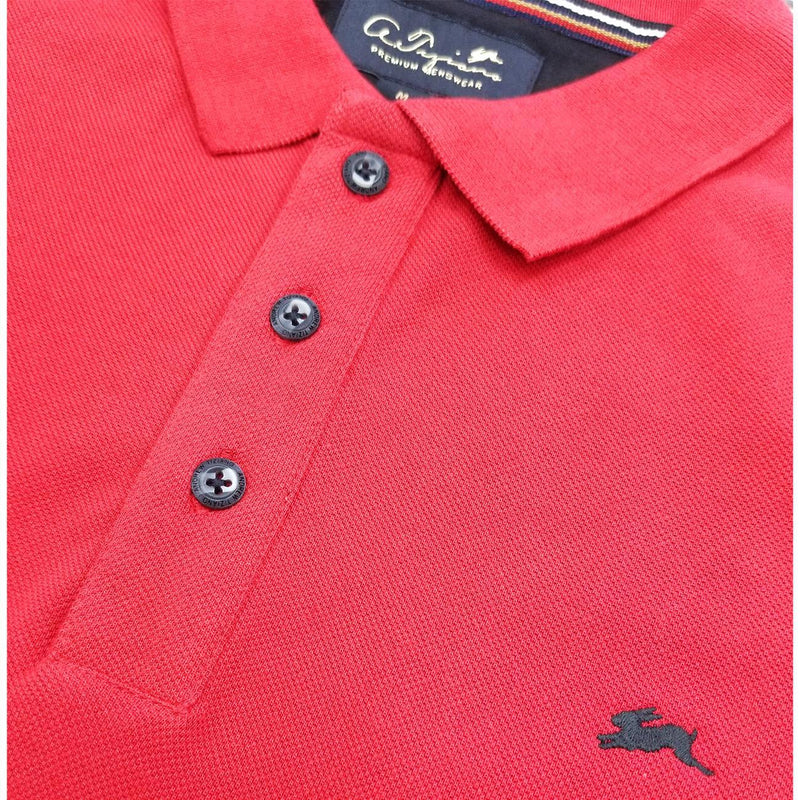 Marcus Polo Shirt (Red) Detail | A. Tiziano