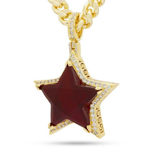Ruby Star Necklace | King Ice