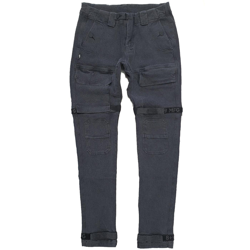 Strapped Up Slim Utility Pant (Grey/Twill)
