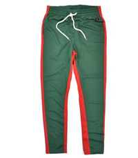 Skinny Track Pants (Green/Red)