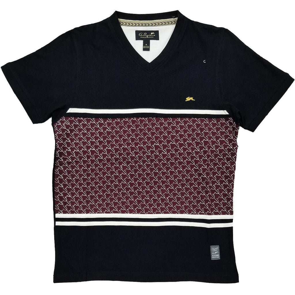 Tyler Short Sleeve Graphic Knit Tee | A. Tiziano