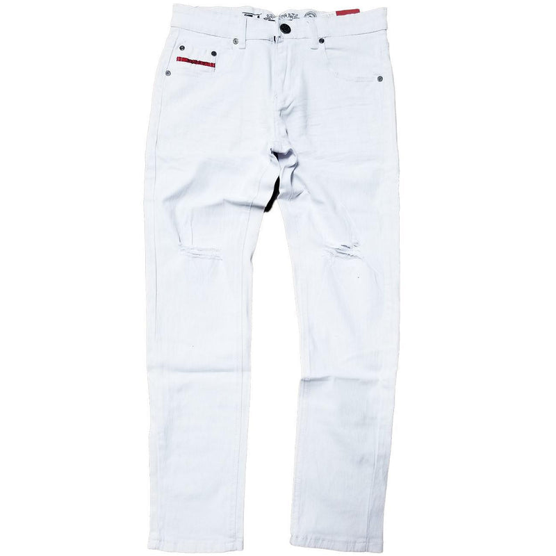Skinny White Stretch Jeans