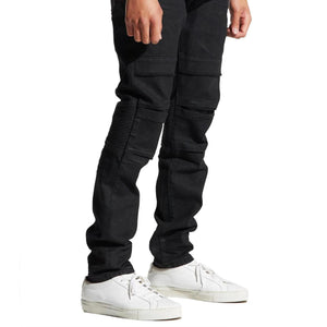 Francesco Jean (Jet Black) Side | Crysp Denim