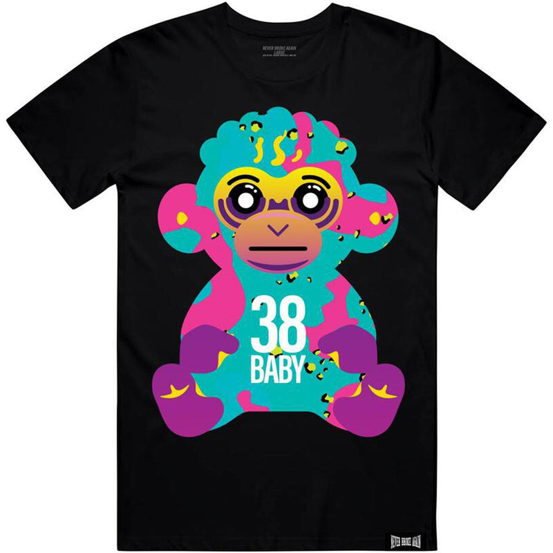 38 Baby Colorful Tee (Black) | Never Broke Again Youngboy