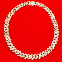 12mm Iced Miami Necklace | USW Urban Street Wear