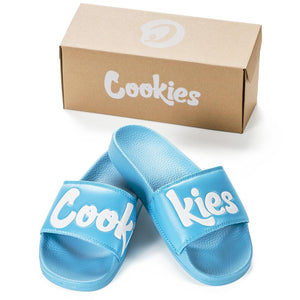 Cookies Original Logo Slides (Blue) | Cookies Clothing