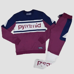 Black Pyramid Jersey + Pant Set (Burgundy)