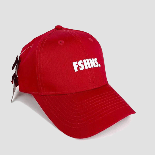 FSHNS Bold Logo Silicone Dad Hat (Red White)