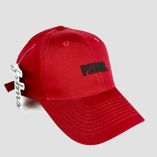 FSHNS Bold Logo Silicone (Red Black) Dad Hat