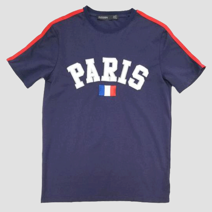 Hudson Outerwear Paris City Tee Shirt Blue
