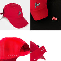 FSHNS Micro Suede Dad Hat (Red/Black)
