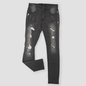 Kayden K Grey Skinny Destroyed Jeans Urban Wear