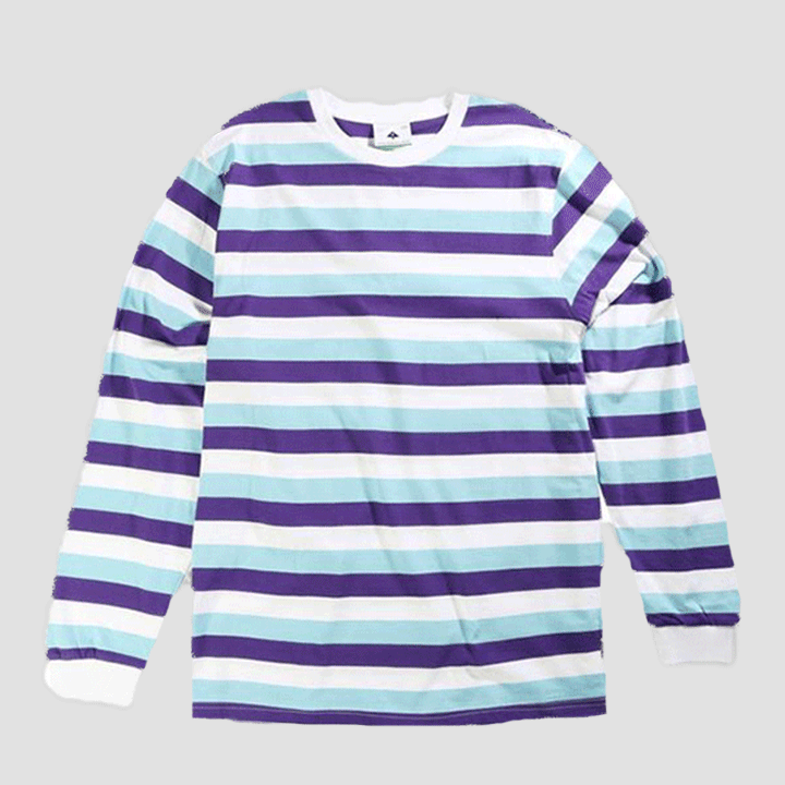 LRG Clothing Buzz Striped Knit Blue
