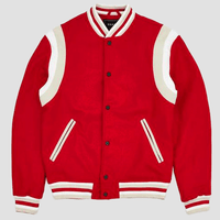 Reason Clothing Brand Westlake Varsity Jacket Red