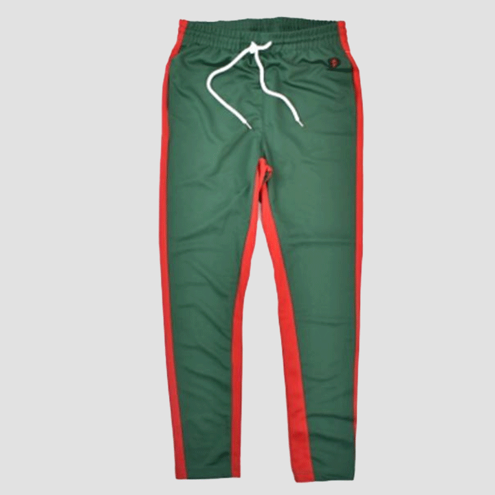 Skinny Track Pants (Green/Red) Southpole Clothing