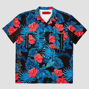 Vie Riche Tropical Floral Button Up Woven Shirt