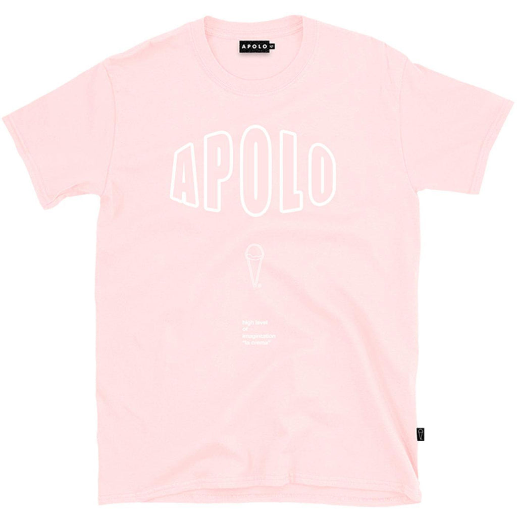 Outline Logo Tee (Pink) | Apolo Apparel
