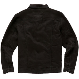 Tribeca Twill Trucker Jacket (Black) Rear View | Jordan Craig