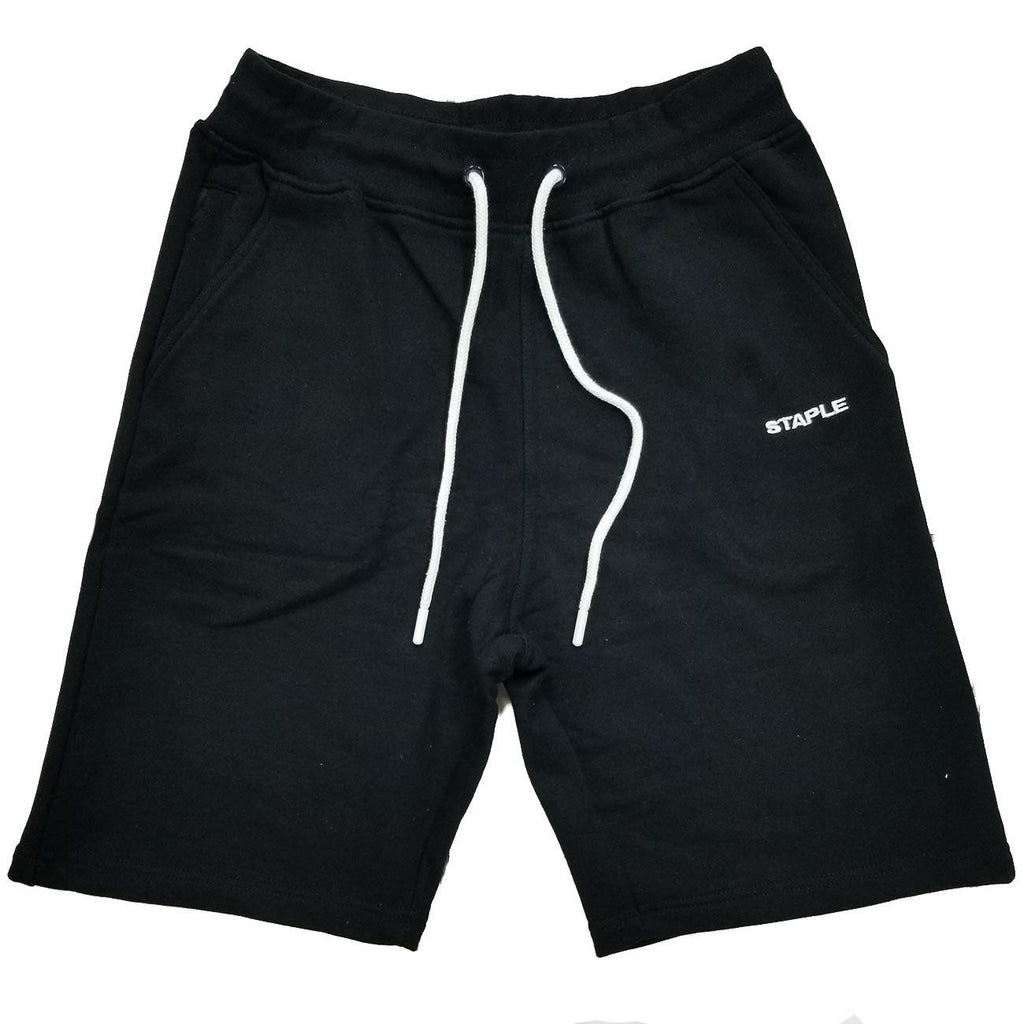 Loopback Sweatshort (Black) | Staple Pigeon