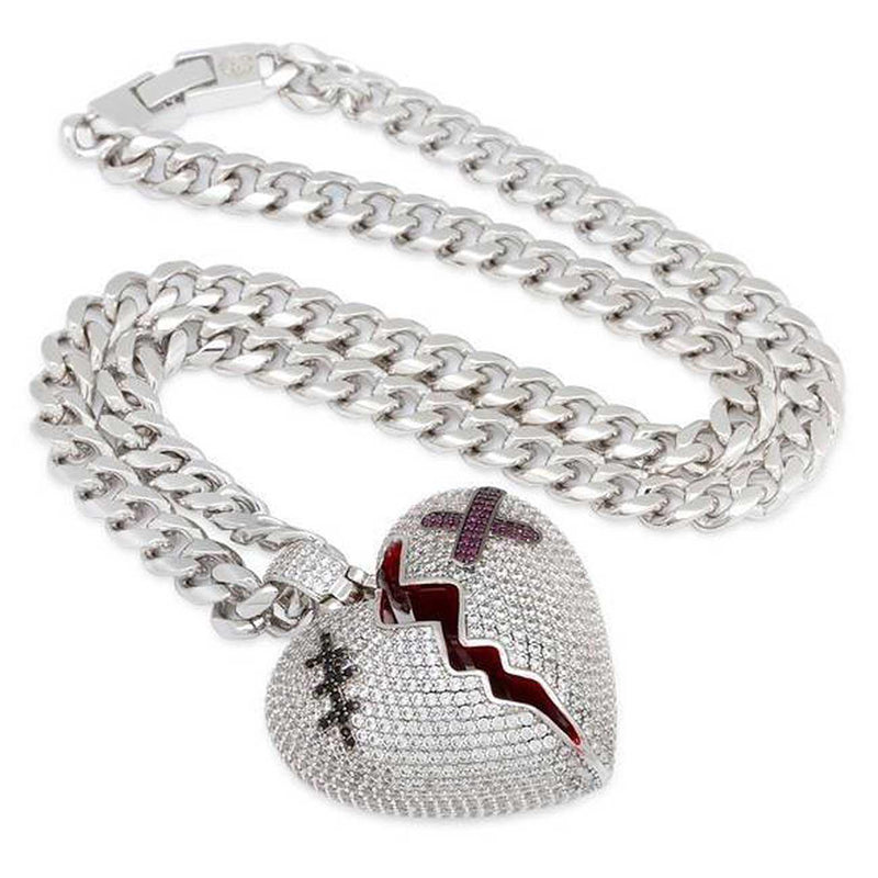 Broken Heart Necklace Side | King Ice