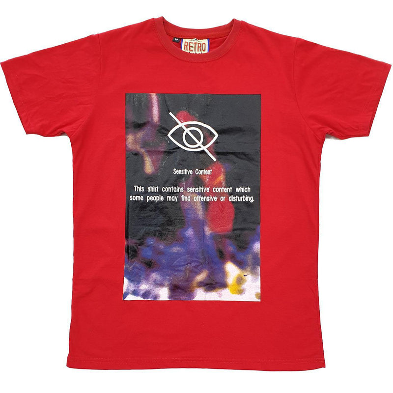 Blurred Content Tee (Red)