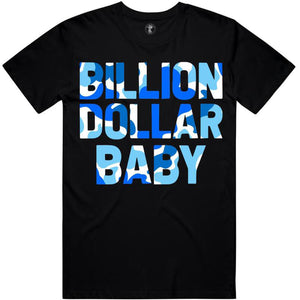 Blueberry Camo T-Shirt (Black) | Billion Dollar Baby