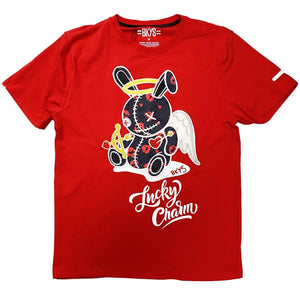 Lucky Angel Tee (Red) | BKYS Black Keys