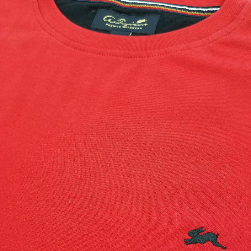 Evan Plain T-Shirt (Red) Detail | A. Tiziano